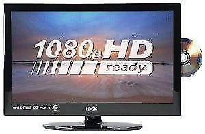18.5 LOGIK FLATSCREEN TV WITH BUILT IN FREEVIEW & DVD