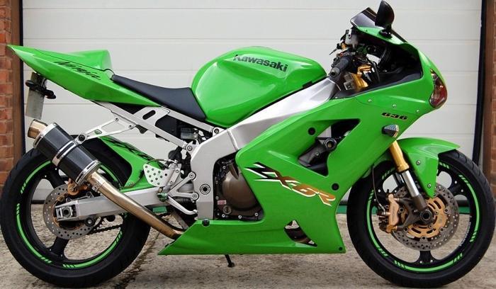 2003 KAWASAKI GREEN ZX6R 636 ZX636 NINJA