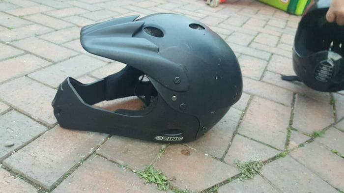 2 x bike helmets