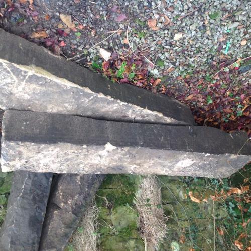 2x Stone Gate post - 57