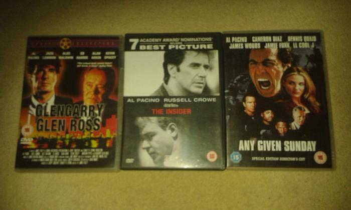 3 x Al Pacino Films on DVD