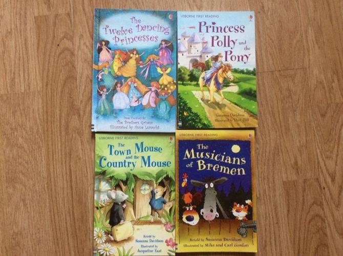 4 usborne first reading books
