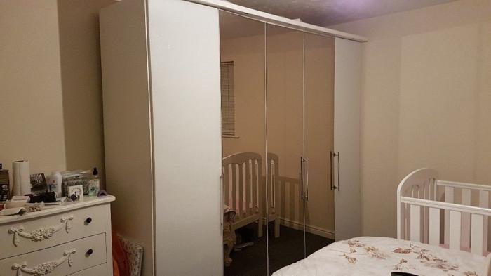 5 door glass Wardrobe