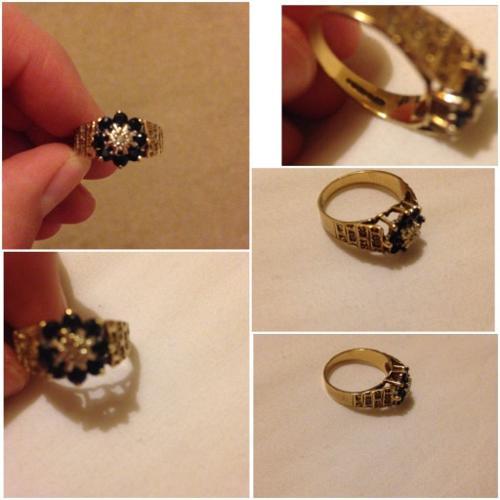9 carat real gold ring