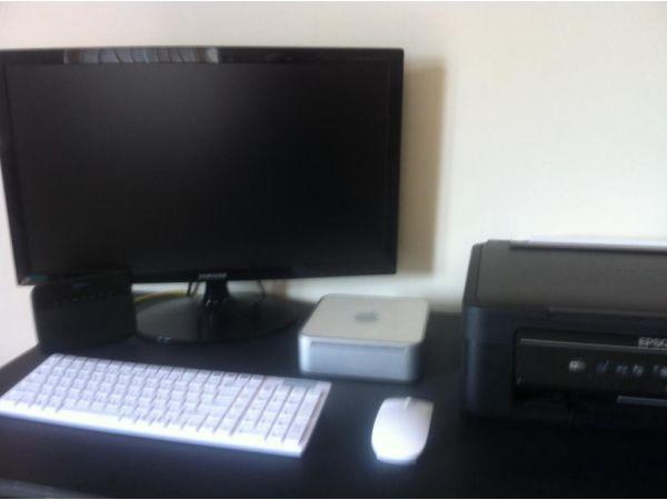 Apple Mac mini computer plus Samsung monitor