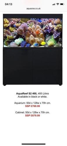 Aqua one aquareef s2 latest Marine tropical fish Tank