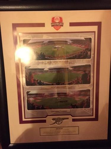 Arsenal photo framed