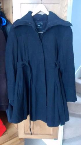 ASOS black maternity coat - size 10