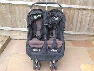Baby Jogger City Mini Double Seat Stroller - Black