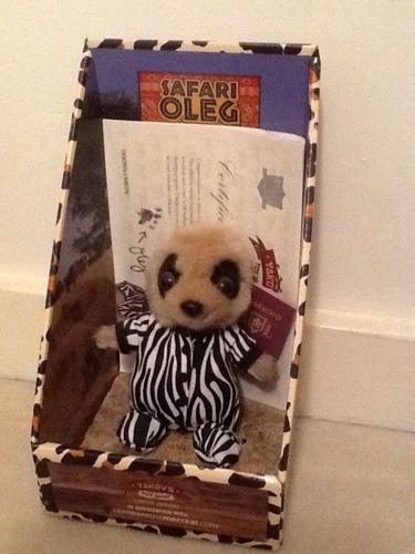 Baby safari Oleg compare the market meerkat toy
