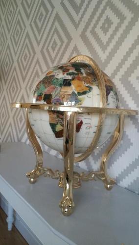 Beautiful large gemstone globe