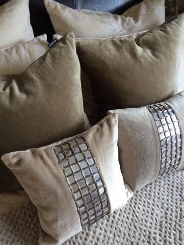 Bed cushions - 2x Heals / 2x Laura Ashley
