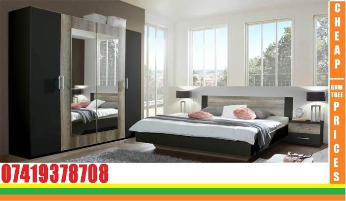 bedroom set and wardrobe