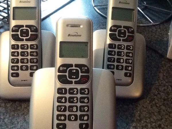 Binatone triple phone set