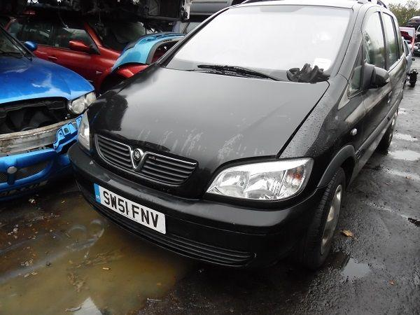 BLACK, 2001 VAUXHALL ZAFIRA COMFORT 16V MPV- FOR PARTS