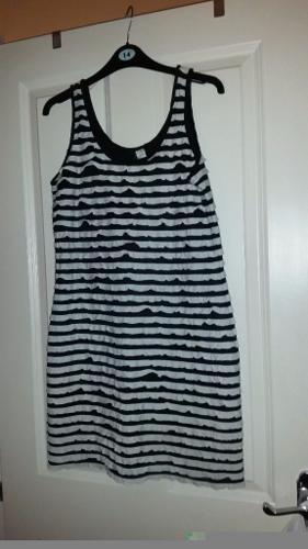 Black and white stripe dress size 14