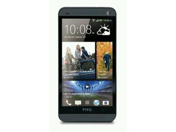 Black HTC ONE unlocked boxed with case