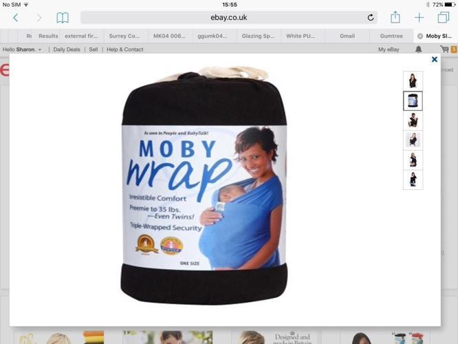 Black Moby sling / wrap