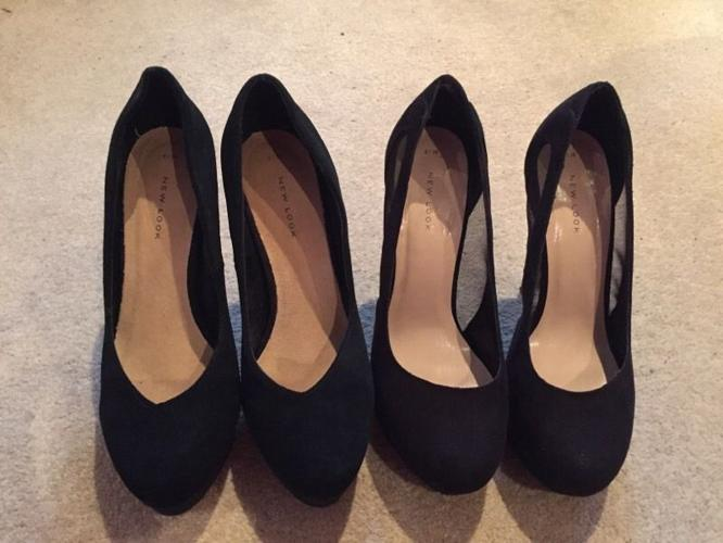 Black shoes size 6 worn once