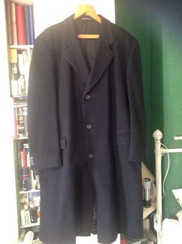 Black woollen overcoat