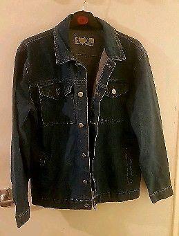 Blue denim jacket size 12