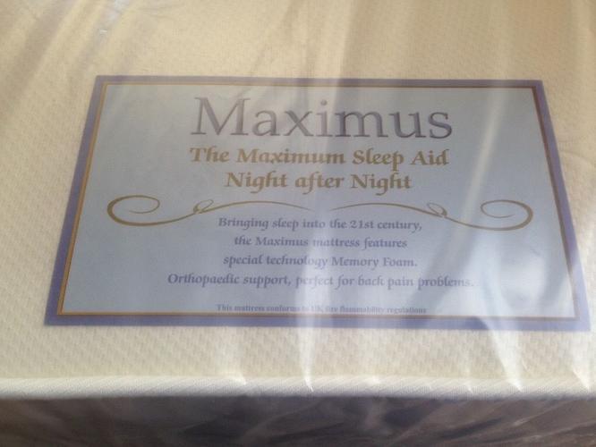 BRAND NEW orthopaedic memory foam mattress