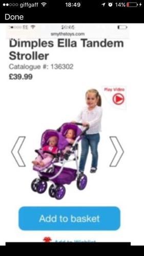Brand New Unopened - Dimples Ella Tandem Stroller