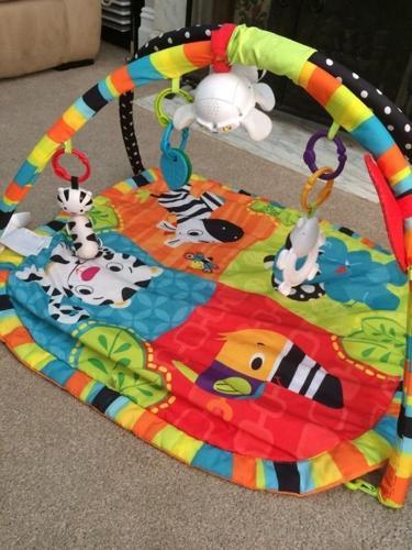 Bright starts spots and stripe Safari gym playmat