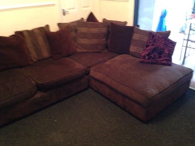 Brown corner sofa for sale, Excellent condition
