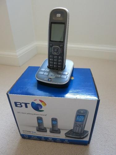 BT7500 Trio Digital Cordless Phone with Answer Machine