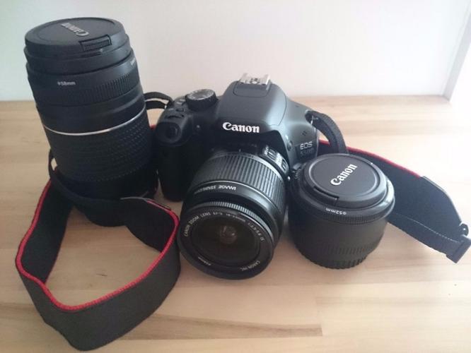 Canon Bundle EOS 550D incl. camera, lenses, filters,