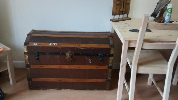 captains chest wooden antique very big
