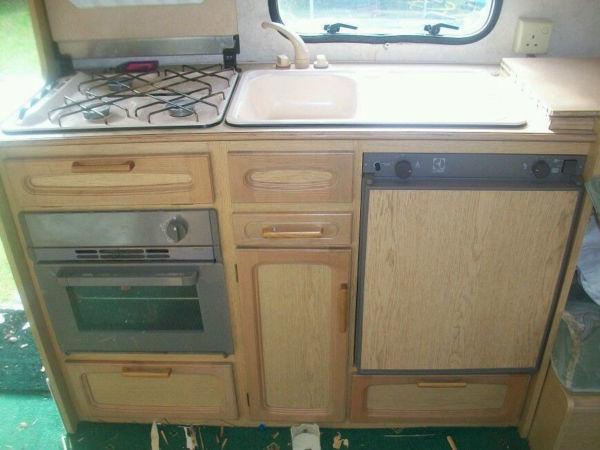 Caravan kitchen unit camper motorhome camper van for Camper van kitchen units