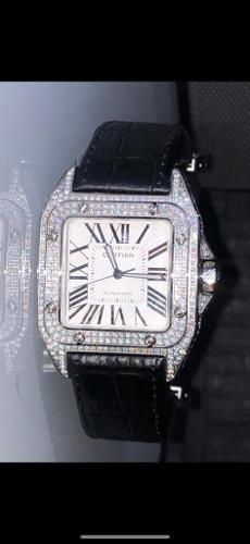 Cartier Santos Diamond Watch