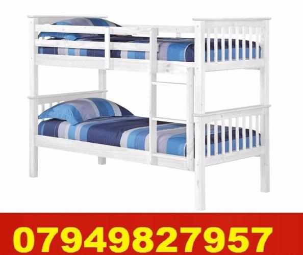Cheapest WHITE WOODEN Bunk Bed CONVERTED IN TO 2
