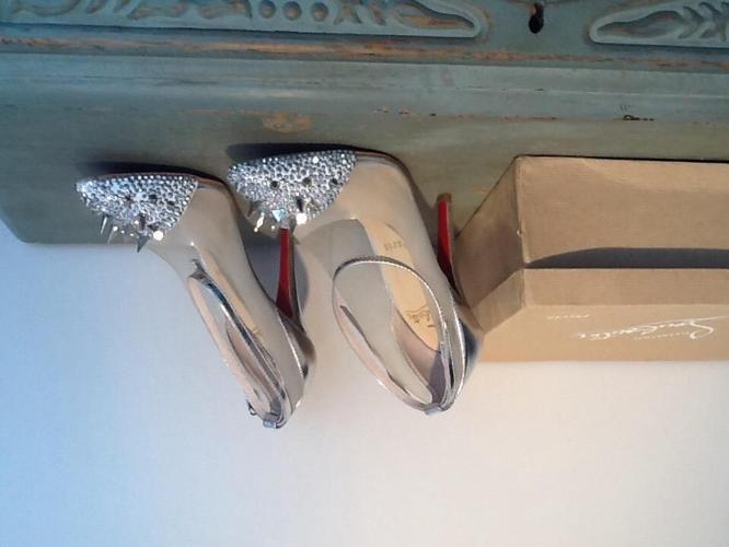 Christian Louboutin shoes silver size 6/39