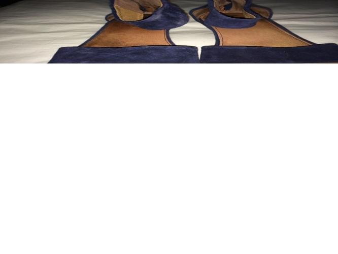 Clarks navy suede sandals