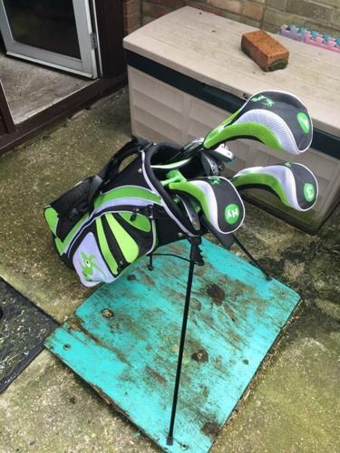 Complete woodworm golf set £100o.n.o