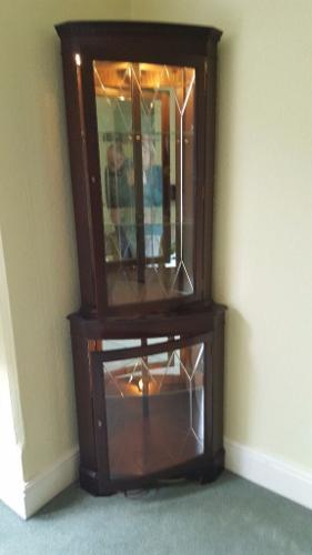 Corner cabinet.