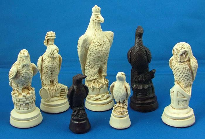 CS16 British Birds 9 Piece Chess Set Moulds