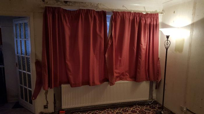 Dark warm Pink Curtains