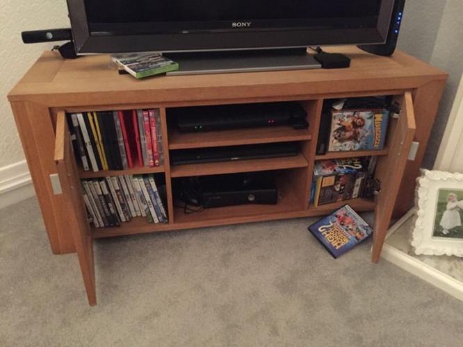 Designer Oak TV cabinet
