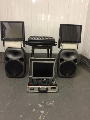 Disco and karaoke setup ready to use