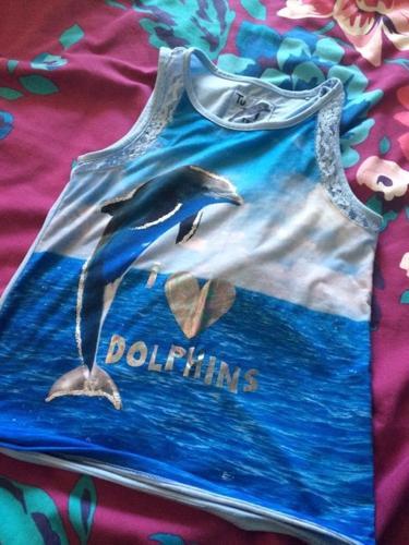 Dolphin vest top