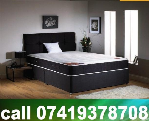 Double / Single / King Size Divan Bed with Mattress