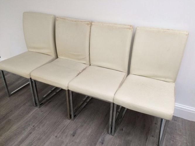 Dwell loop leg dining chairs x4