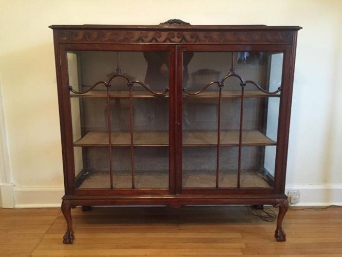 Edwardian china Display Cabinet