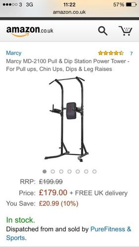 Exercise station pull ups chin ups dips