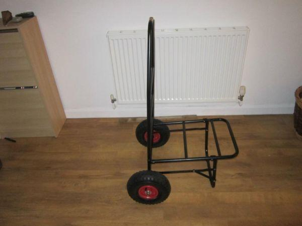 Fishing trolley - folds almost flat - pneumatic tyres