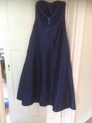 Formal full length royal blue gown